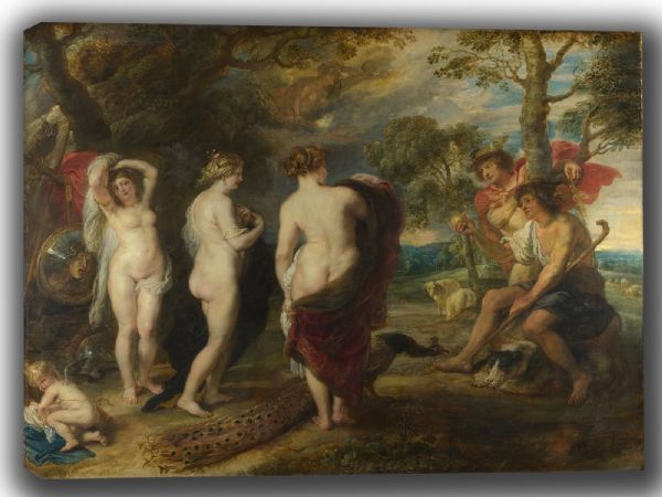 Rubens, Peter Paul: The Judgement of Paris. Fine Art Canvas. Sizes: A4/A3/A2/A1 (002120)